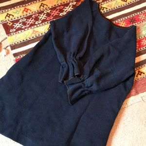 OSMAN blue dress, navy blue